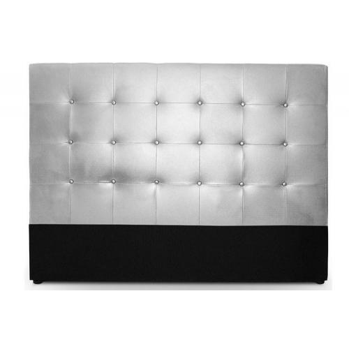 t te de lit capitonn e 140 cm cocoon argent 3 suisses. Black Bedroom Furniture Sets. Home Design Ideas