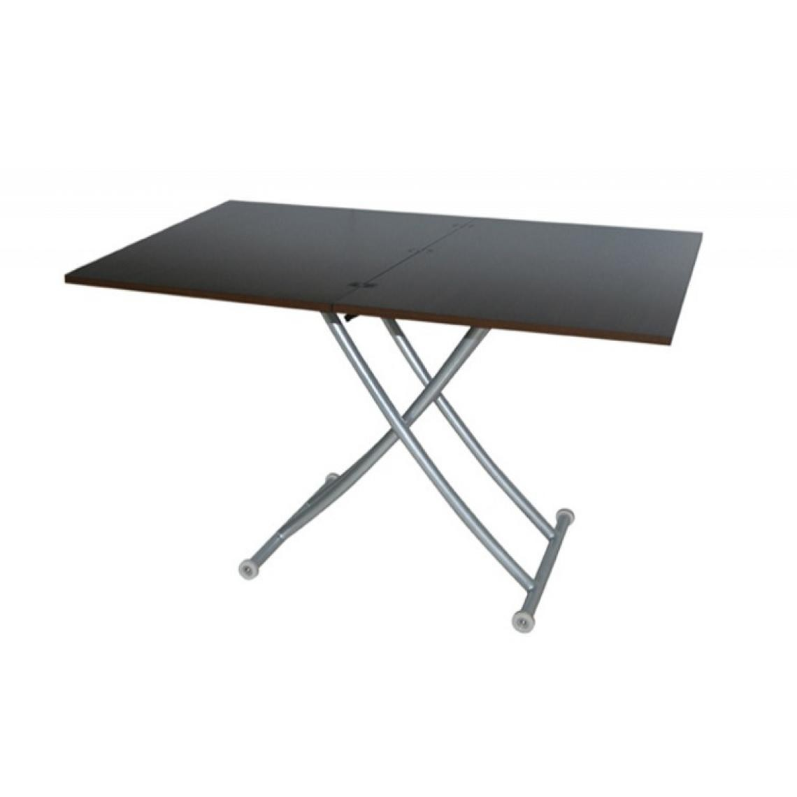 Basse Relevable Extensible Table Wenge 100x60x76 Ella srdtxQhC