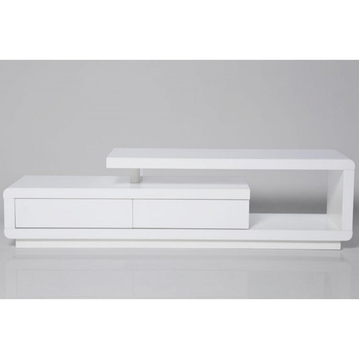 Meuble Tv Grande Taille meuble tv blanc laqué avec tiroirs people 170x40x45 plus de détails