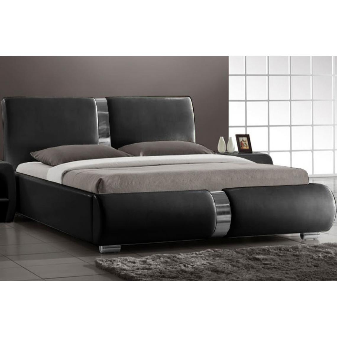 Photo Chambre Adulte Design lit design noir 140cm baleno 153x225x105 plus de détails