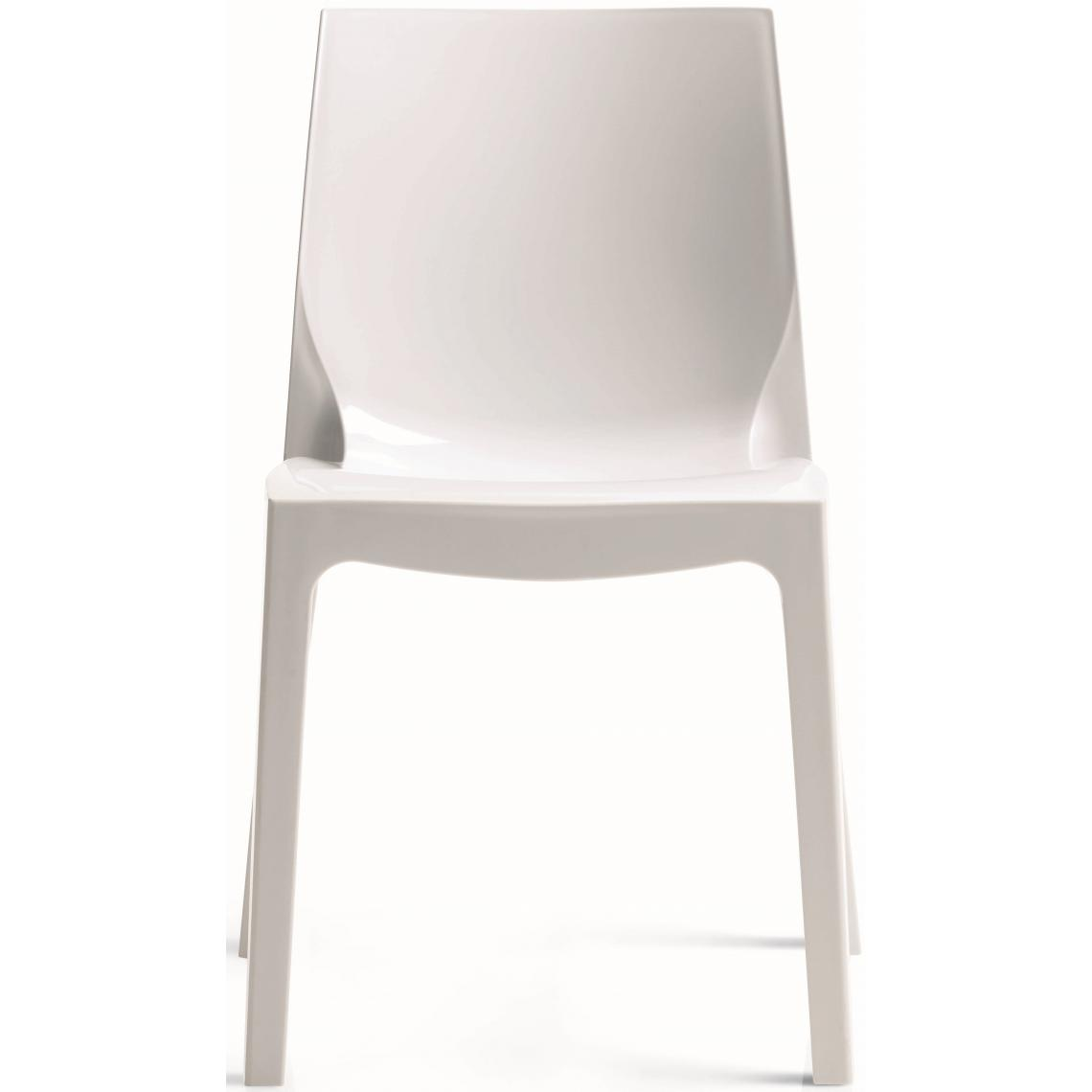 Chaise Design Blanche Laquee LADY 3Suisses Mobilier Deco