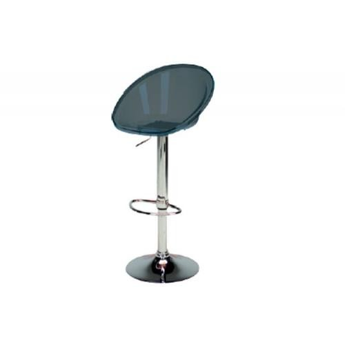 3S. x Home - Tabouret De Bar Design Transparent Fumé ROXY - Tabouret de bar