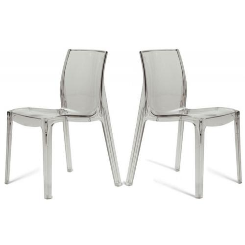 3S. x Home - Lot de 2 Chaises Transparentes LADY - Sélection meuble & déco Intemporel