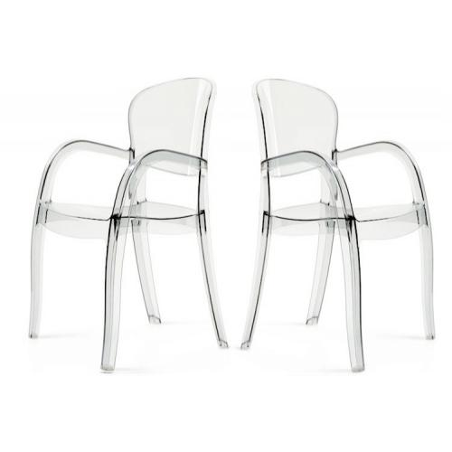 3S. x Home - Lot de 2 Chaises Transparentes VICTOR - GRANDSOLEIL