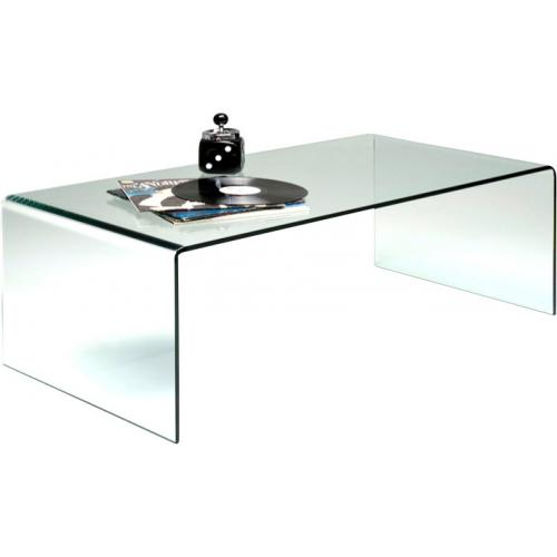 KARE DESIGN - Table basse en verre Bahia 120 cm - Table basse