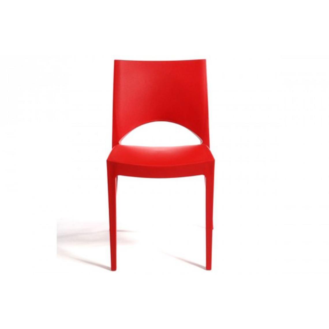 Lot de 2 Chaises Design Rouges VENISE uWu6Y