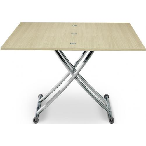3S. x Home - Table basse relevable extensible bois chêne clair Ella - Table basse