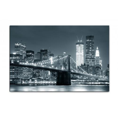 3S. x Home - Tableau New York City By Night L.80 x H.55 cm - La déco
