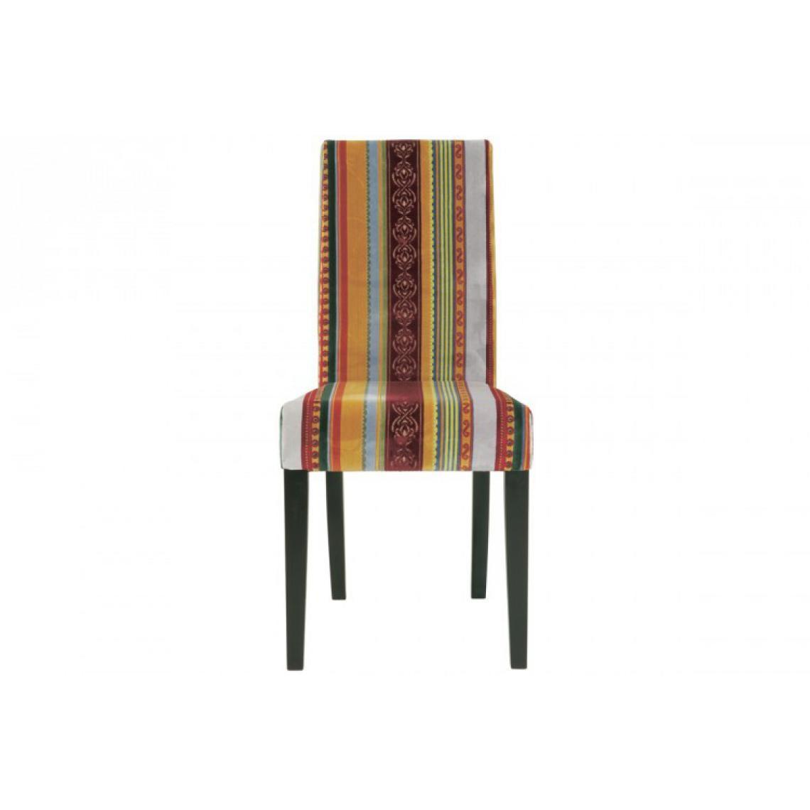 Chaise multicolore en tissu Inspiration   3 SUISSES