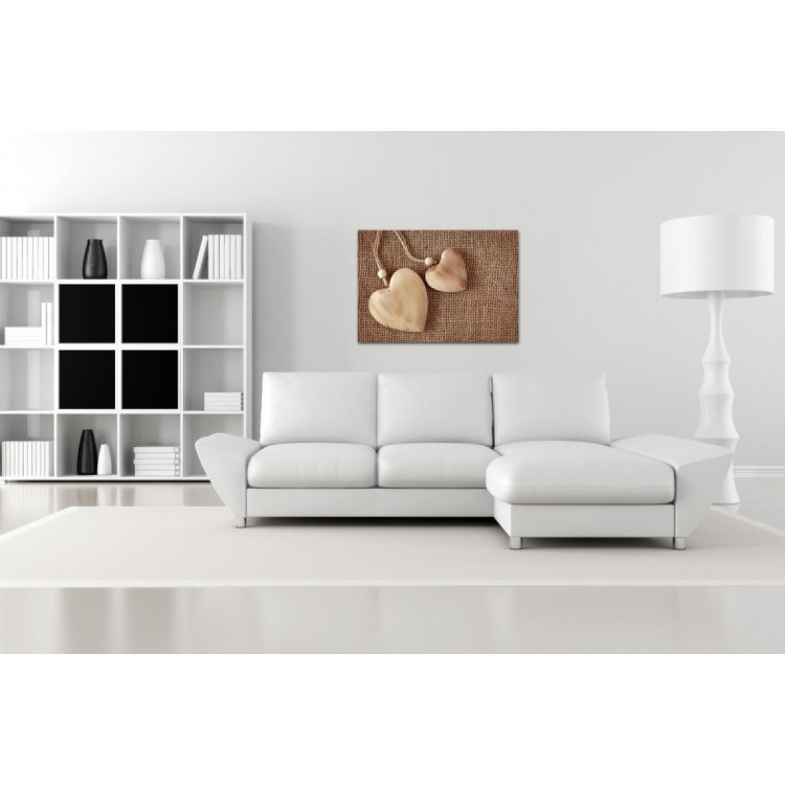 Canapé En Toile De Jute tableau romantique coeur en toile de jute l.80 x h.55 cm 80x55 plus de  détails