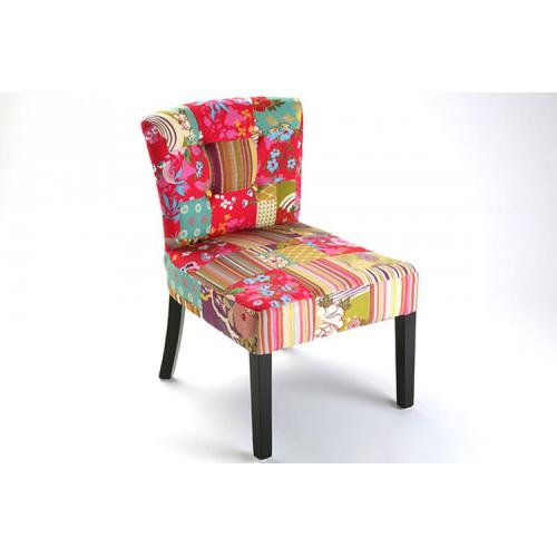 3S. x Home - Fauteuil design Patchwork Lilly - Fauteuil, pouf