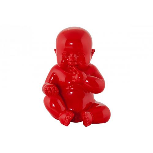 3S. x Home - Statue Little Baby Rouge - La déco