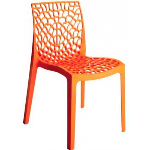 3S. x Home - Chaise Design Orange DENTELLE - Chaise