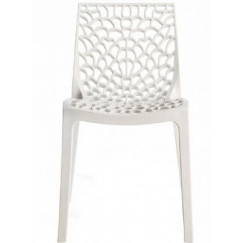 3S. x Home - Chaise Design Blanche DENTELLE - Chaise