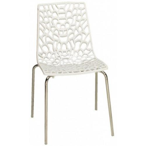 3S. x Home - Chaise Design Blanche TRAVIATA - Chaise, tabouret, banc