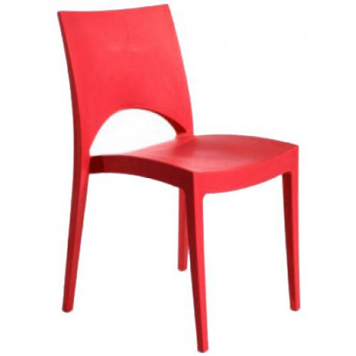 3S. x Home - Chaise Design Rouge POLO - Meuble & Déco