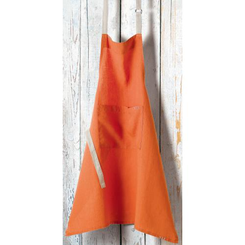 3S. x Home - Tablier de cuisine à bavette en lin adulte Victory Winkler - Orange - Linge de table