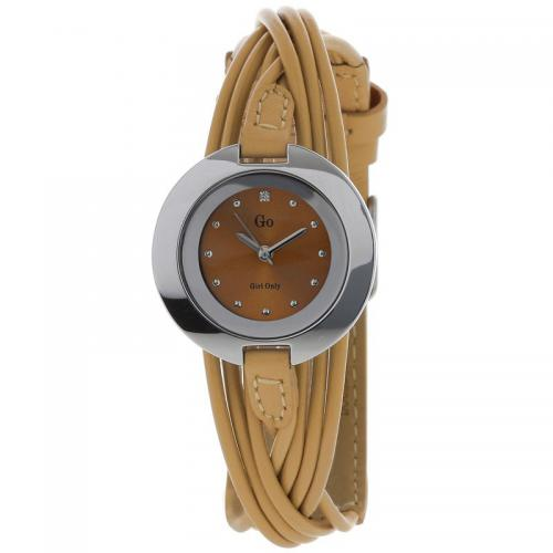 Go Girl Only - Montre Go 698122 - Montre Beige Mode Cuir Femme
