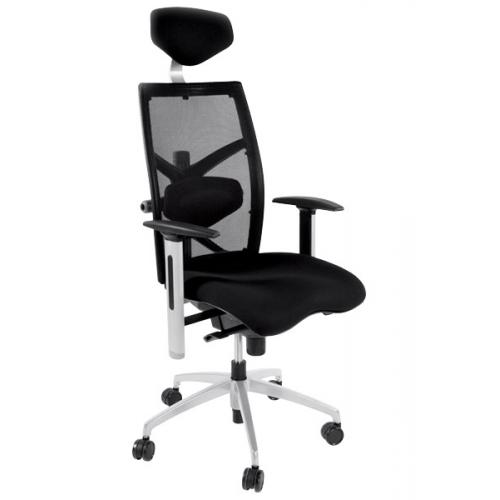 3S. x Home - Chaise de bureau noire Michel - Chaise