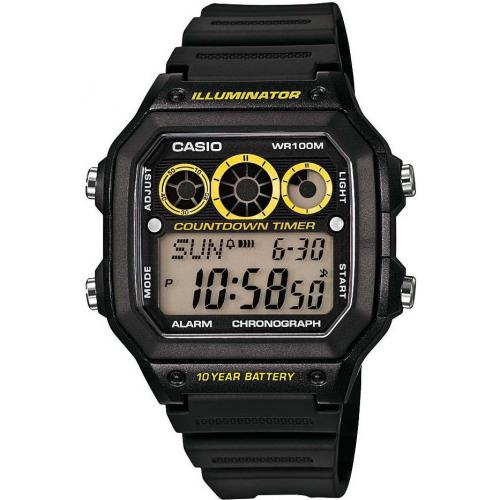 Montre Casio Collection AE-1300WH-1AVEF - Montre Illuminator Digitale Noire Casio Montres