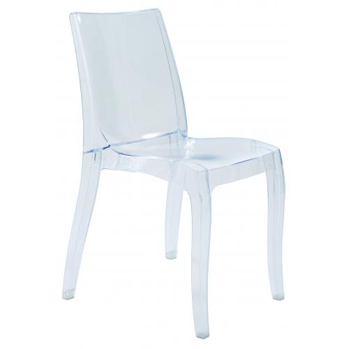 3S. x Home - Chaise Design Transparente CRETE - Chaise