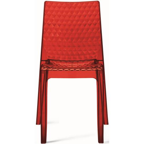 3S. x Home - Chaise Design Transparente Rouge DELPHES - Chaise
