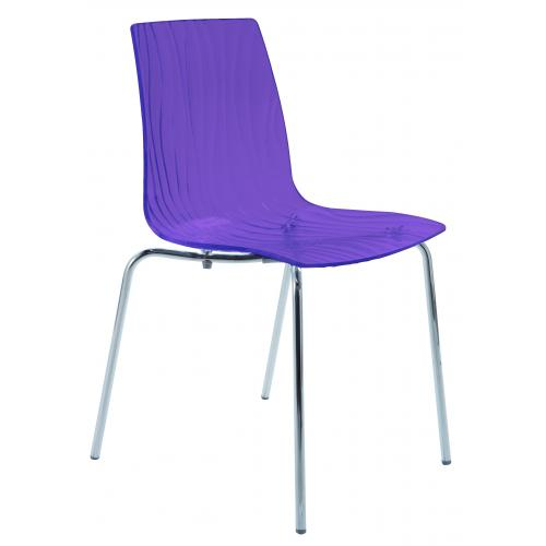 3S. x Home - Chaise Design Transparente Violette OLYMPIE - GRANDSOLEIL