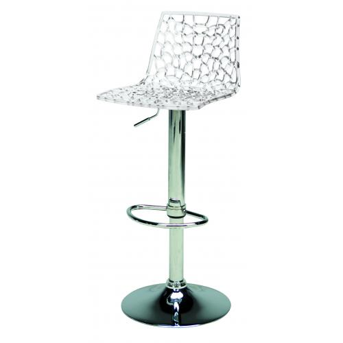 3S. x Home - Tabouret De Bar Design Transparent SMARTO - Meuble & Déco