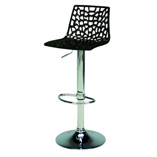 3S. x Home - Tabouret De Bar Design Noir SMARTO - Meuble & Déco