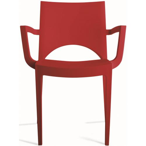 3S. x Home - Chaise Design Rouge PALERMO - Chaise, tabouret, banc