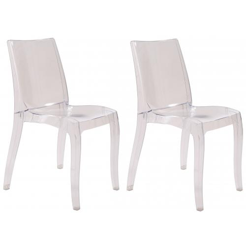 3S. x Home - Lot de 2 Chaises Transparentes ATHENES - GRANDSOLEIL
