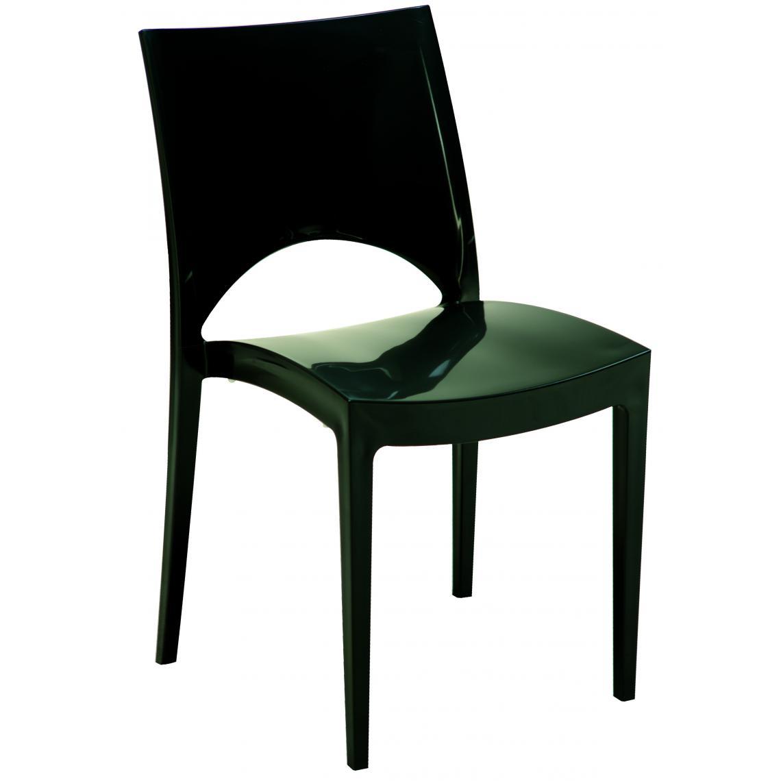 Chaise Design Grise Laquée VENISE 80x51x43