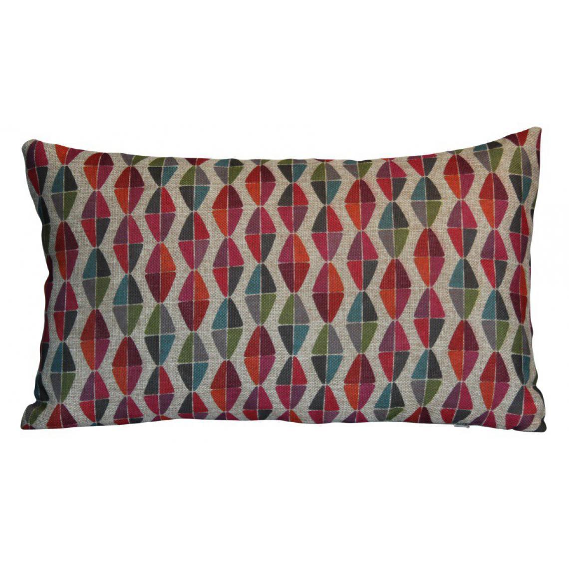 Coussin Rectangulaire rouge en polyester Jodie - 3Suisses