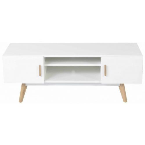 Meuble TV blanc plaqué bois Téodora - 3 SUISSES