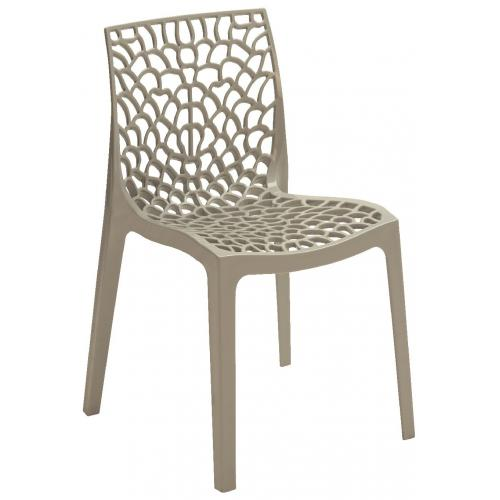 3S. x Home - Chaise Design Grise DENTELLE - Chaise de jardin