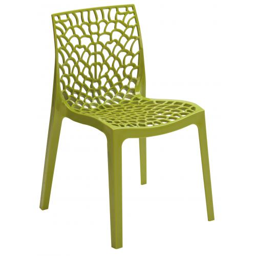 3S. x Home - Chaise Design Verte Anis DENTELLE - Chaise de jardin