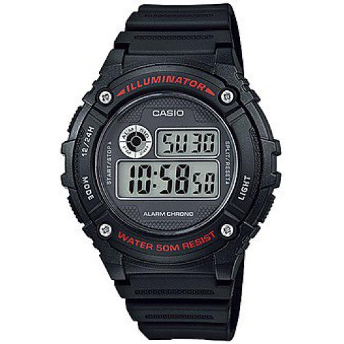Casio - Montre Casio Collection W-216H-1AVEF - Montre Digitale Multifonction Homme - Montre & bijou