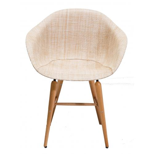 KARE DESIGN - Chaise Beige avec accoudoirs Forum - Scandinave