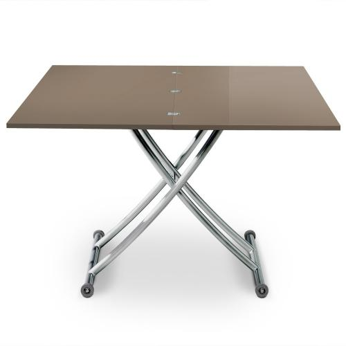 3S. x Home - Table basse taupe en métal Varsovie - Meuble & Déco