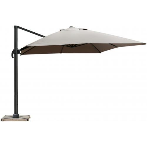 parasol d port rectangulaire gris fonc en toile alberick. Black Bedroom Furniture Sets. Home Design Ideas