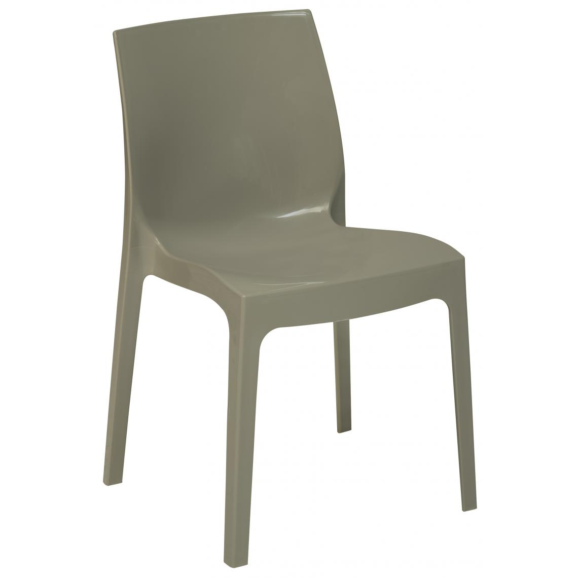 Chaise Design Grise Perle Laquee LADY 3Suisses Mobilier Deco