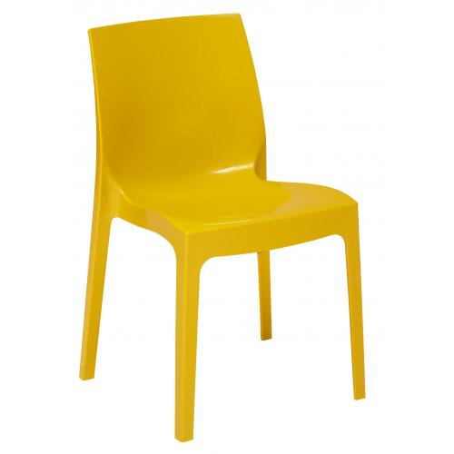 3S. x Home - Chaise Design Jaune Laquée LADY - GRANDSOLEIL
