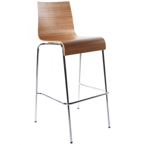 3S. x Home - Tabouret de bar marron en métal BARBEE - Tabouret de bar