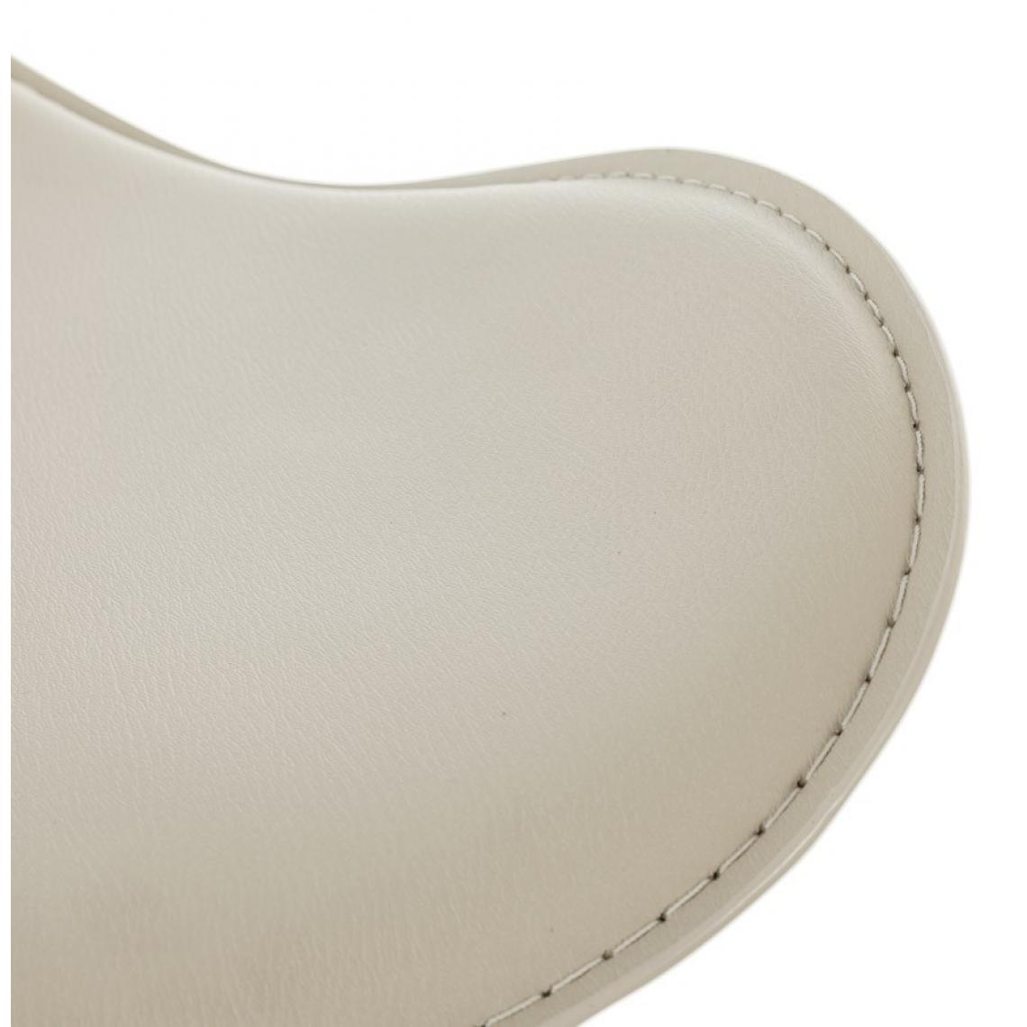 Tabouret de bar blanc en métal MADONE ovhwr