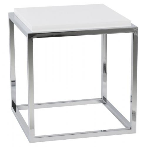 3S. x Home - Table basse blanche empilable en métal BOGOTA - Table basse