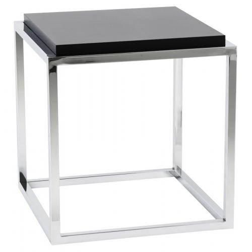 3S. x Home - Table basse noire empilable en métal BOGOTA - Table basse