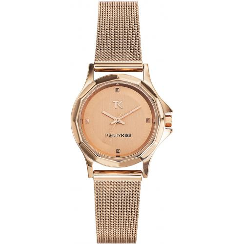 Trendy Kiss - Montre Trendy Kiss TMG10060-04 - Montre   Ronde Acier Or roseFemme - Montre femme