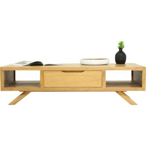 3S. x Home - Table basse en Bois Massif MATTEO - Table basse