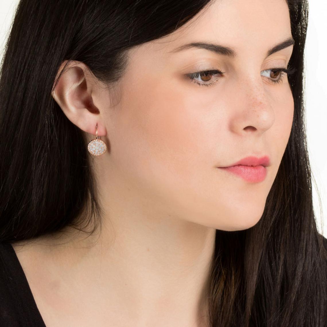 boucle d'oreille pendentif fossil