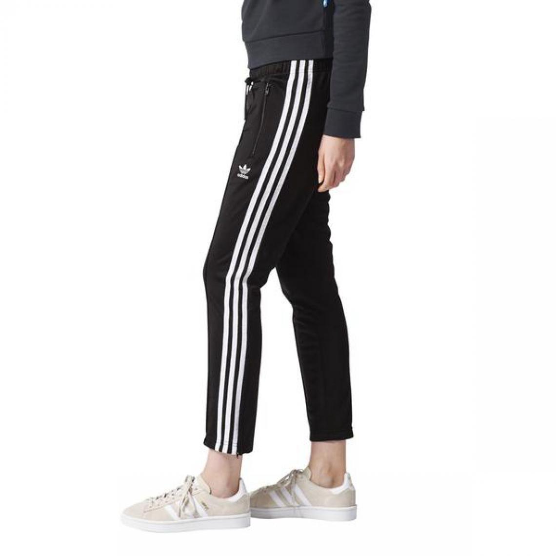 Pantalon jogging 3 bandes Adidas Originals femme - Noir | 3 ...